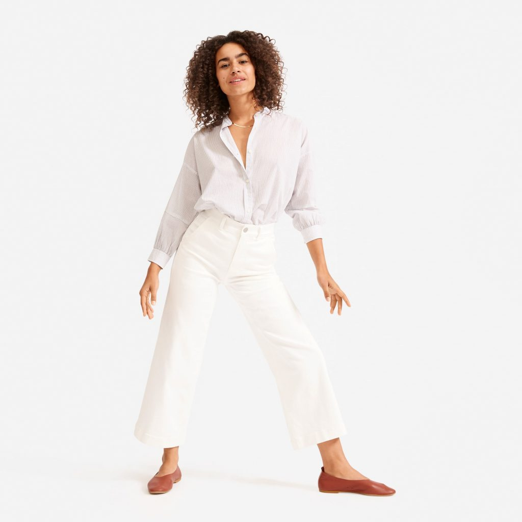 everlane_wide_leg_crop_pant_types of jeans for women_revelle