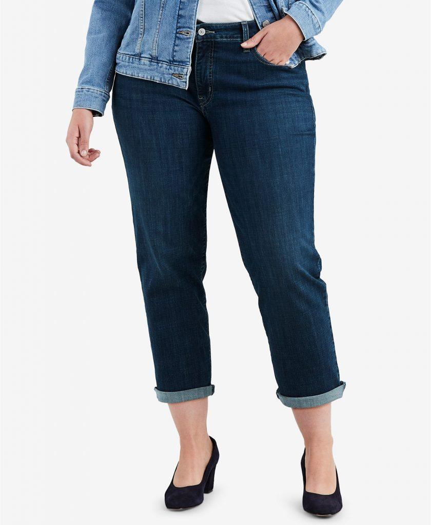 levis_trendy_plus_size_stretch_boyfriend_fit_jeans_types of jeans for women_revelle