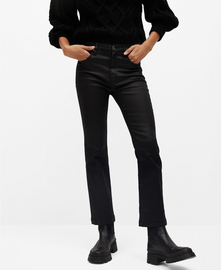 Women's Coated Bootcut Flare Jeans