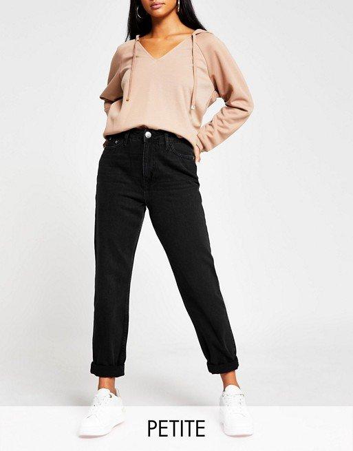 Asos river island petite mom jeans_best jeans for petite women_revelle