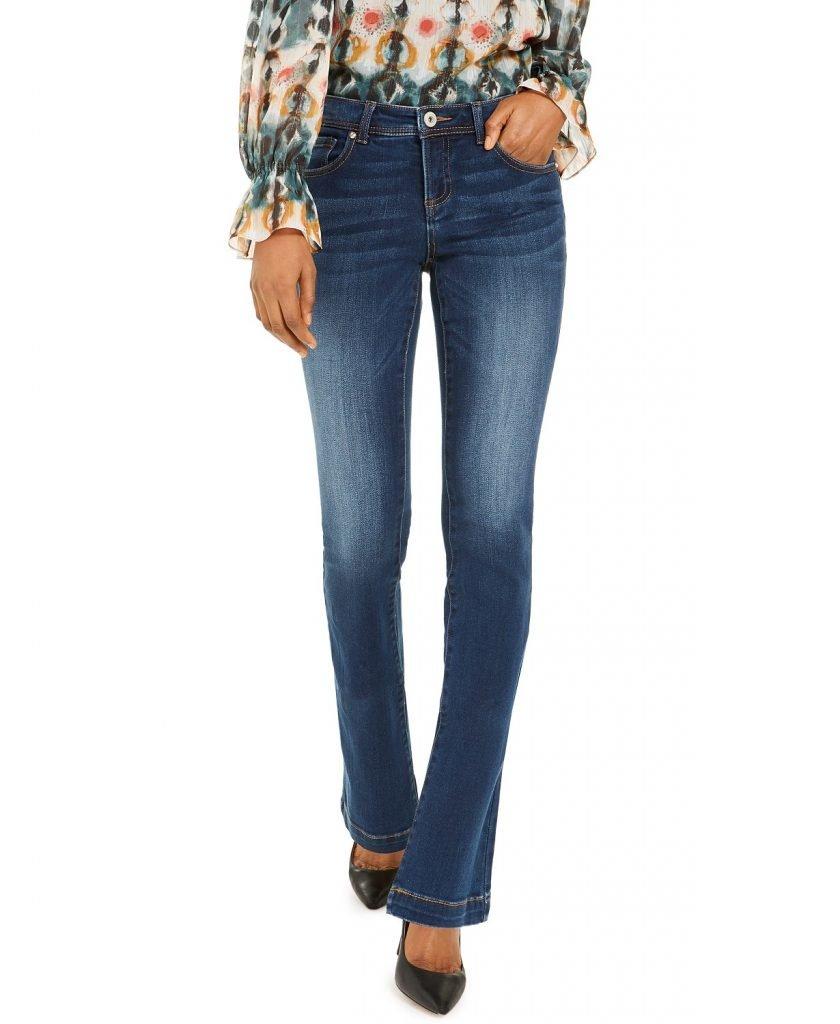 Inc petite bootcut tummy control jeans_best jeans for petite women_revelle