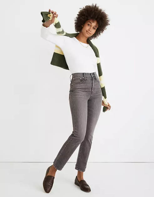Madewell petite perfect vintage ankle jean dennison wash_best jeans for petite women_revelle
