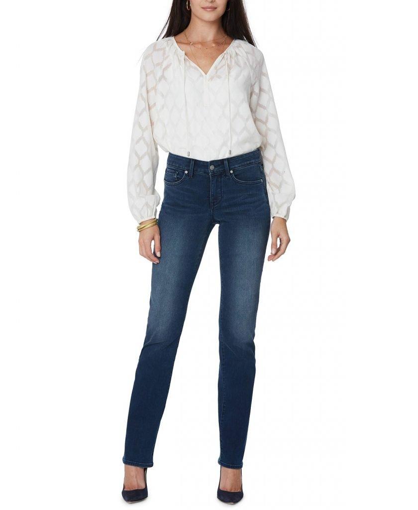 NYDJ petite marilyn straight leg jeans_best jeans for petite women_revelle