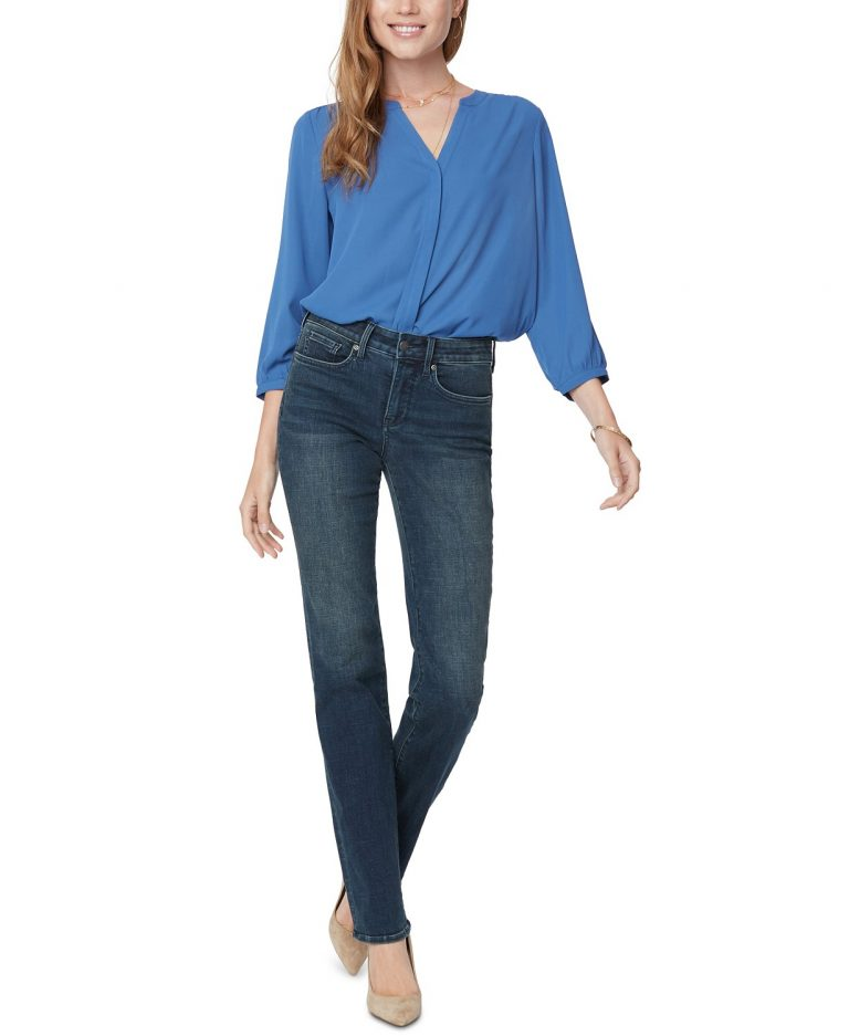 NYDJ petite marilyn straight leg tummy-control jeans_best jeans for tummy control_revelle