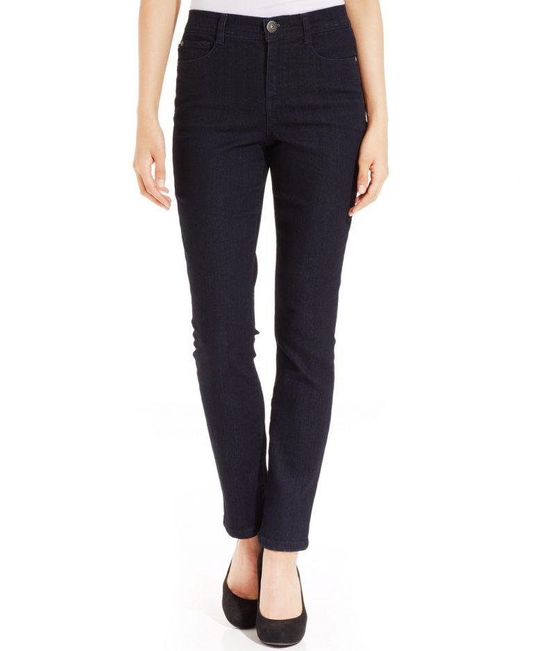 style co petite tummy control slim leg jeans_best jeans for tummy control_revelle