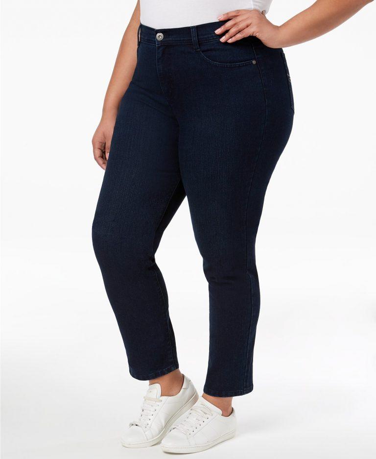 style co plus size tummy control slim leg jeans_best jeans for tummy control_revelle