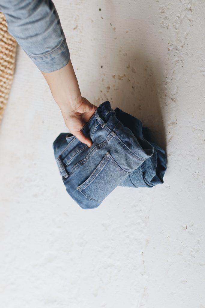 how to fold jeans_revelle