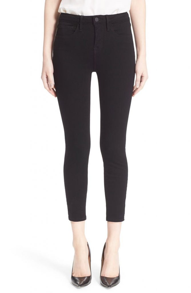 L'Agence Claudine Skinny Ankle Jeans_how to wear jeans to work and look professional_revelle