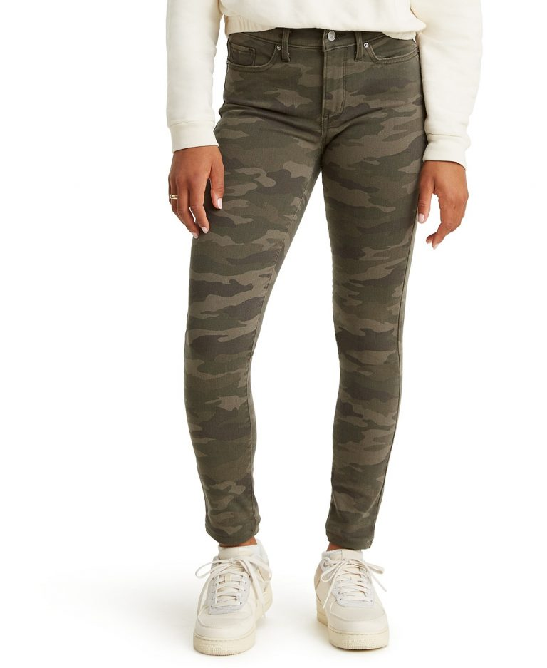 Levi's 311_Camo_Print_Shaping_Skinny_Jeans_best jeans for women with big thighs_revelle