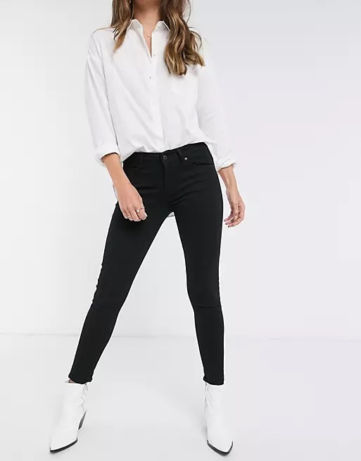 Levi's 711 Mid-Rise Skinny Jeans_how to wear jeans to work and look professional_revelle
