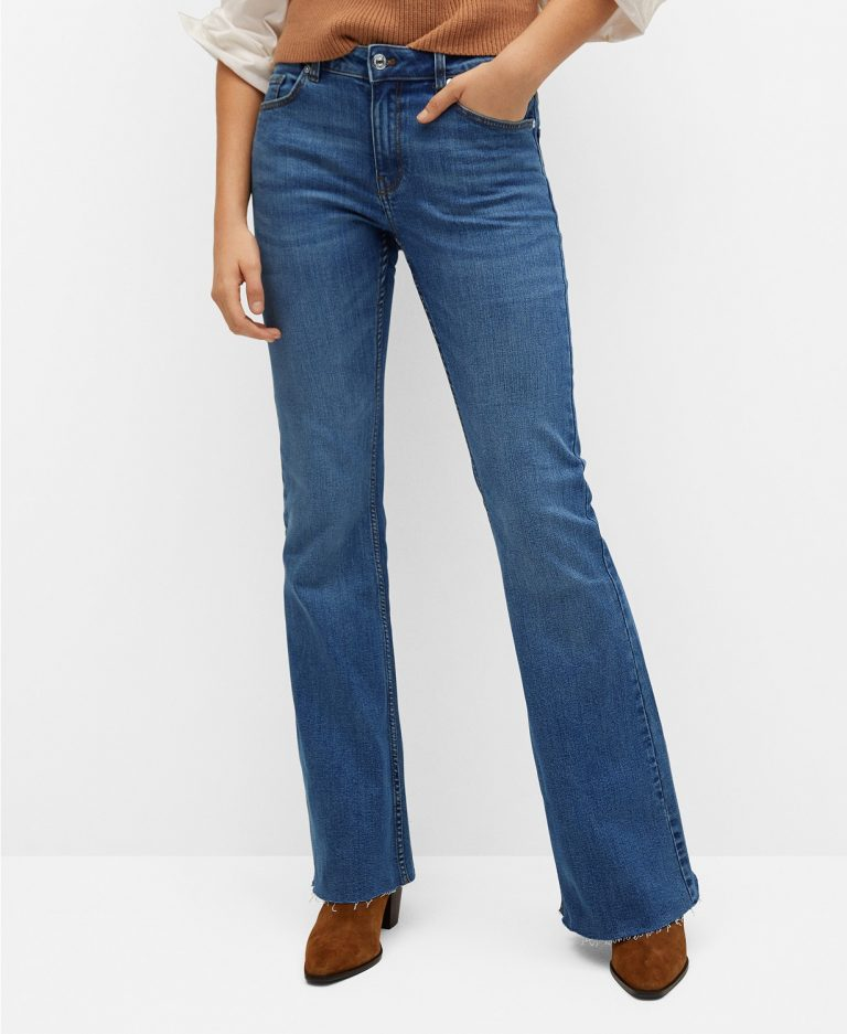 MANGO_Womens_Flared_Jeans_best jeans for women with big thighs_revelle