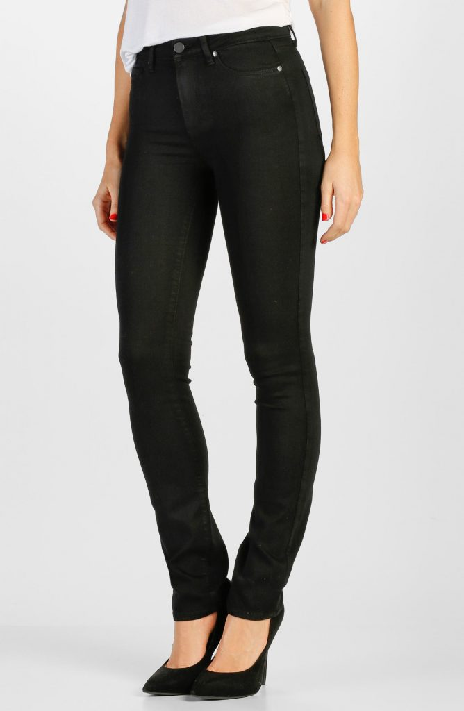 Transcend Hoxton High-Waist Straight Leg Jeans_how to wear jeans to work and look professional_revelle