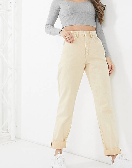 ASOS DESIGN High-Rise Slouchy Mom Jeans_best mom jeans_revelle