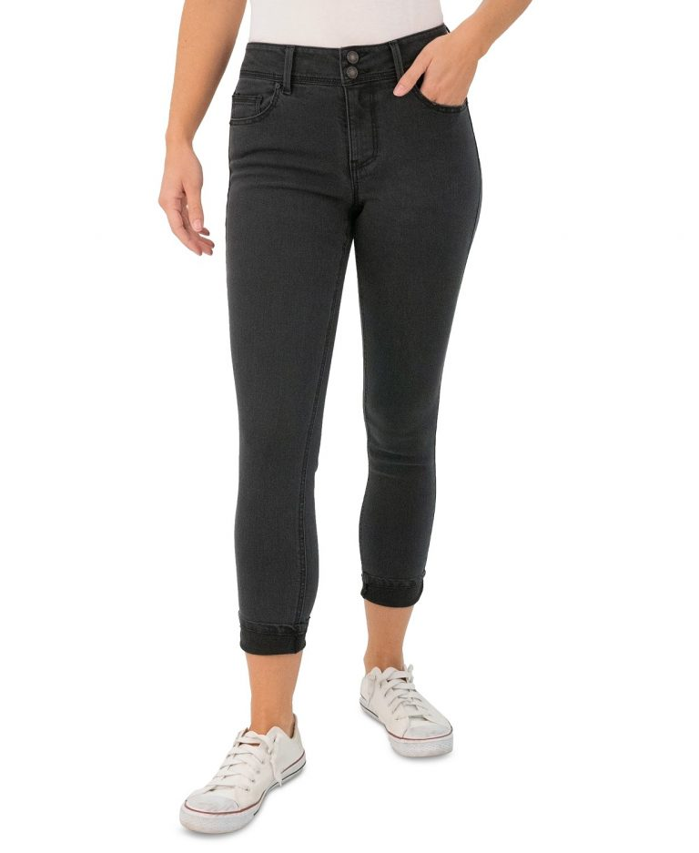 Indigo Rein Juniors' Curvy Rolled-Cuff Skinny Jeans_best skinny jeans for women_revelle