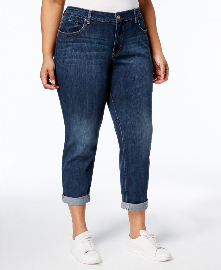 Jessica Simpson Trendy Plus-Size Mika Best Friend Skinny Jeans_best jeans for travel_revelle