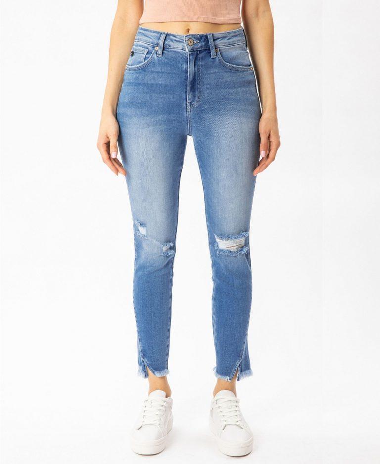 Kancan Women's High-Rise Skinny Jeans_best jeans for travel_revelle
