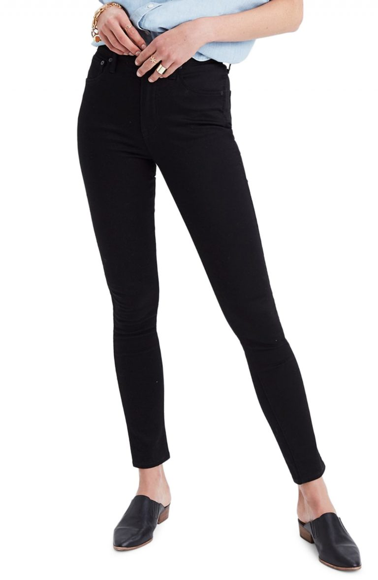 Madewell Petite 10-Inch High Waist Skinny Jeans_best skinny jeans for women_revelle