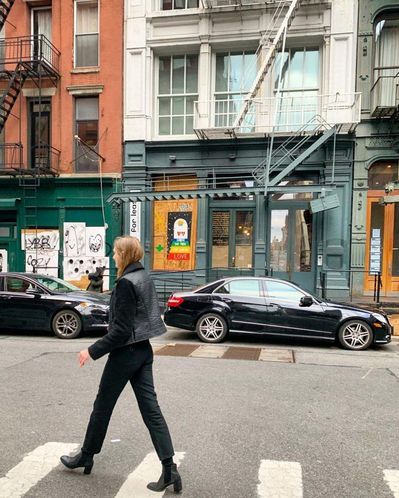 woman walking in soho_revelle