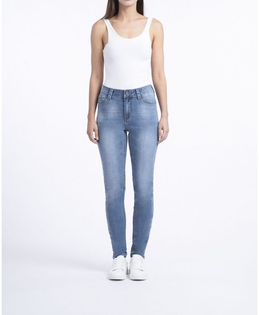 Rubberband Stretch Ladies Mid-Rise Skinny Jeans_best skinny jeans for women_revelle