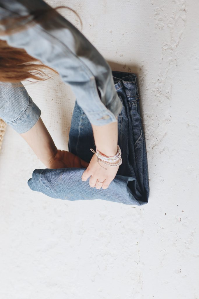 how to fold jeans_save space_6_revelle