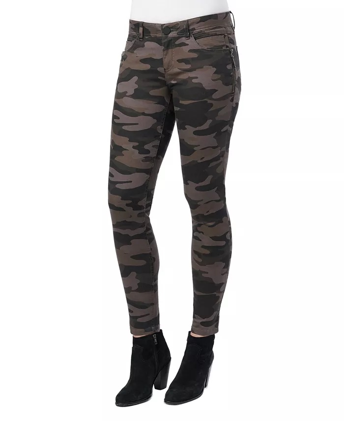 Democracy Women's Mid-Rise Ab Solution Side Zip Jegging_animal print jeans_revelle