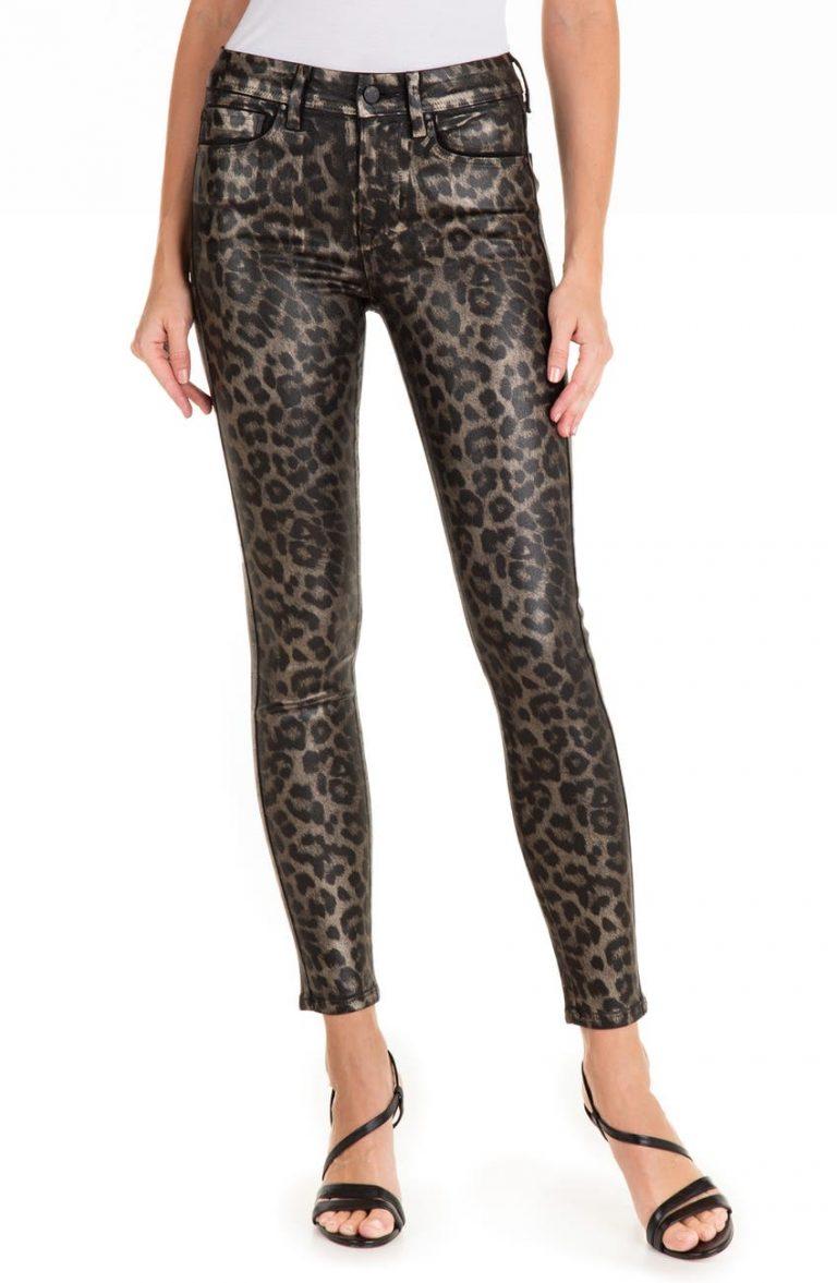 FIDELITY DENIM Sola High Waist Crop Skinny Jeans_animal print jeans_revelle