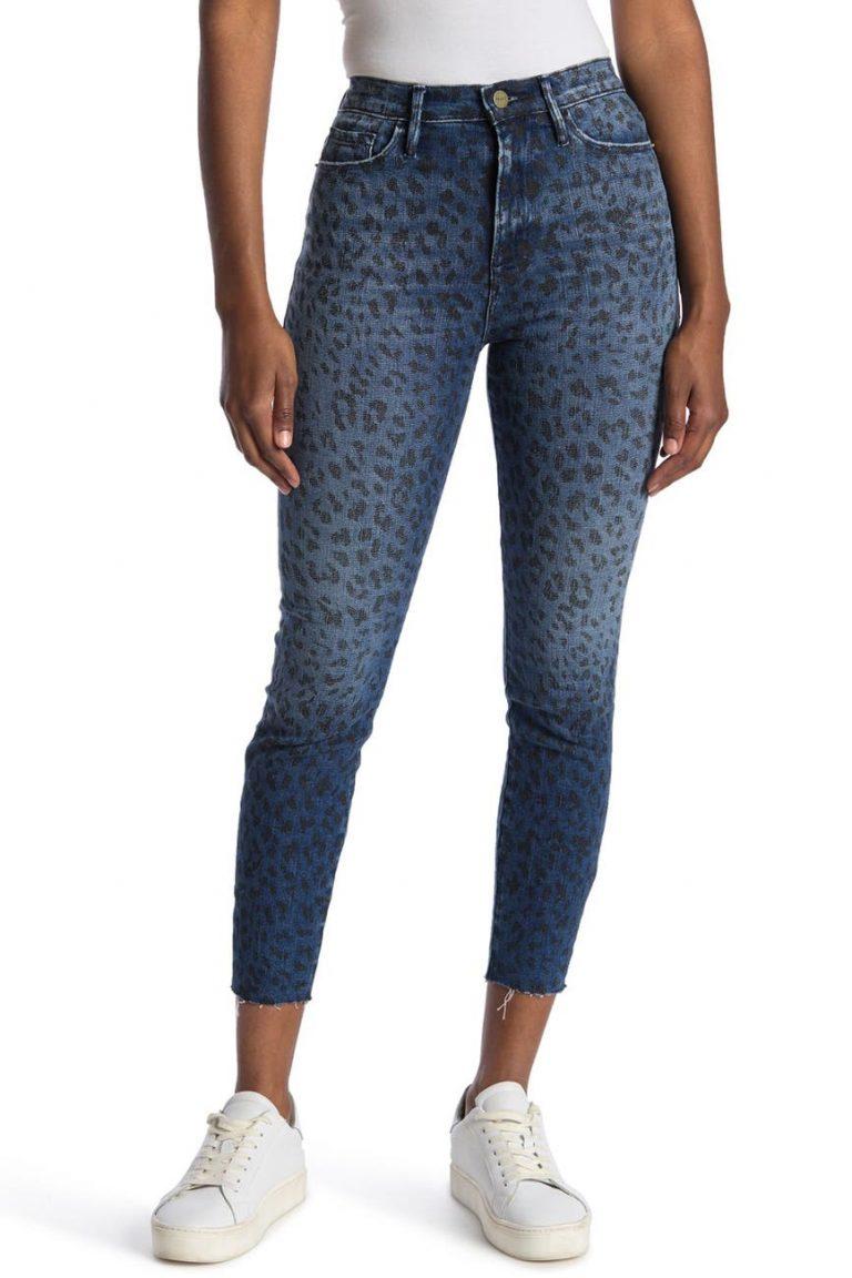 FRAME Ali High Rise Cigarette Jeans_animal print jeans_revelle