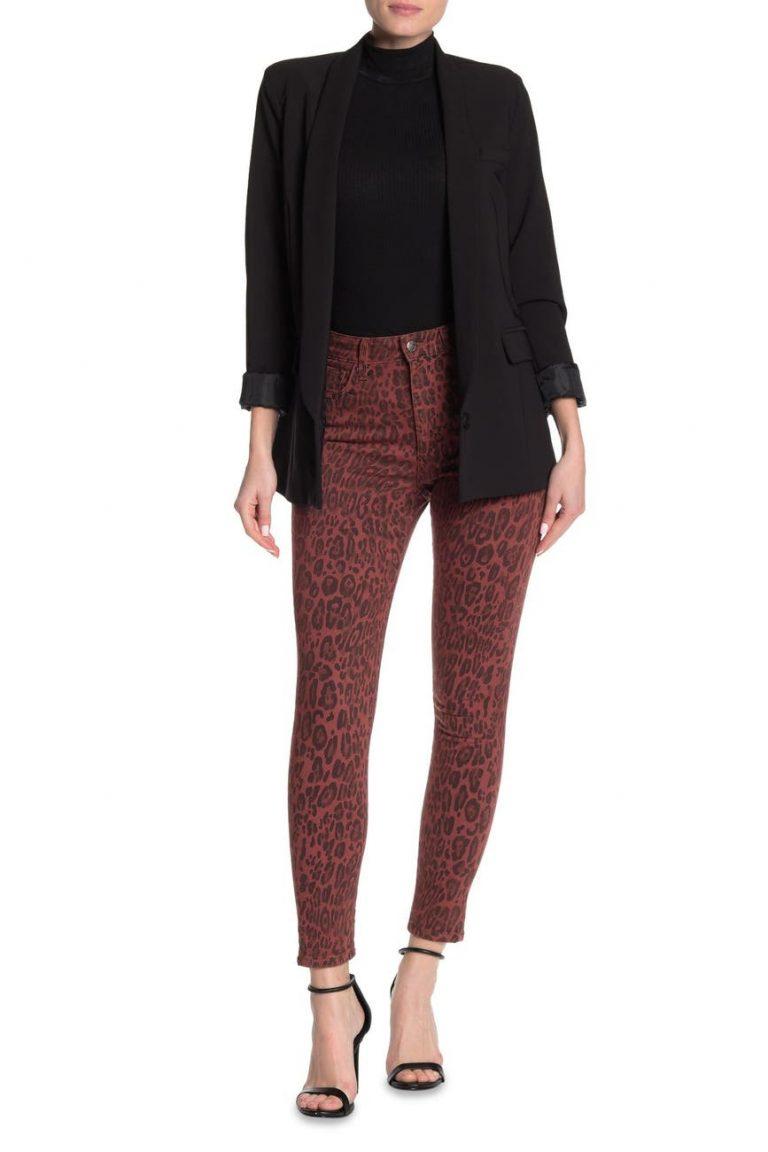 Joe's Jeans The Charlie Leopard Print Ankle Crop Skinny Jeans_animal print jeans_revelle
