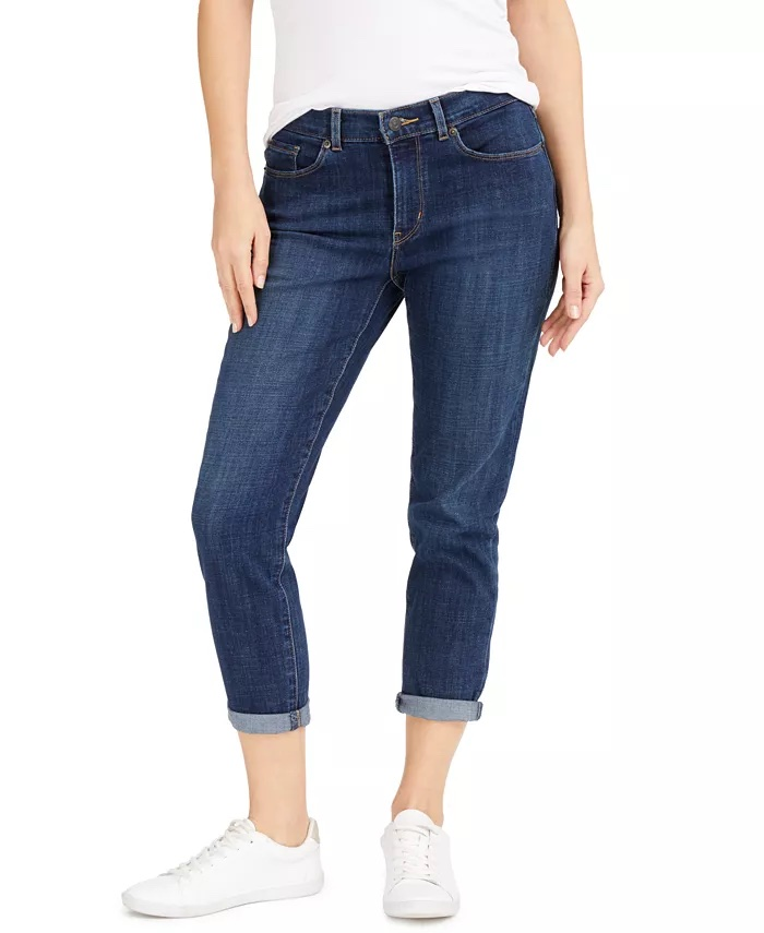 Levi's Cropped Mid-Rise Jeans_cropped jeans women_revelle
