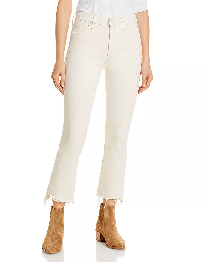 Mother Insider Frayed Cropped Jeans_cropped jeans women_revelle