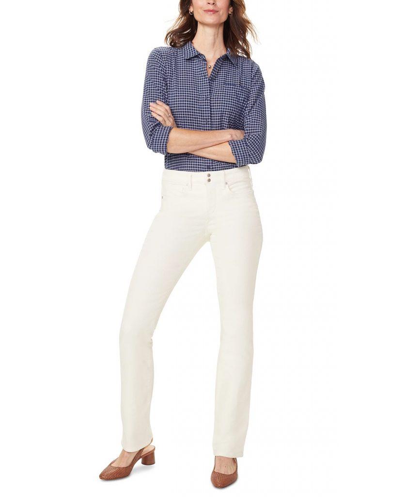 NYDJ Marilyn Tummy-Control Straight-Leg Corduroy Jeans_cream colored jeans_revelle