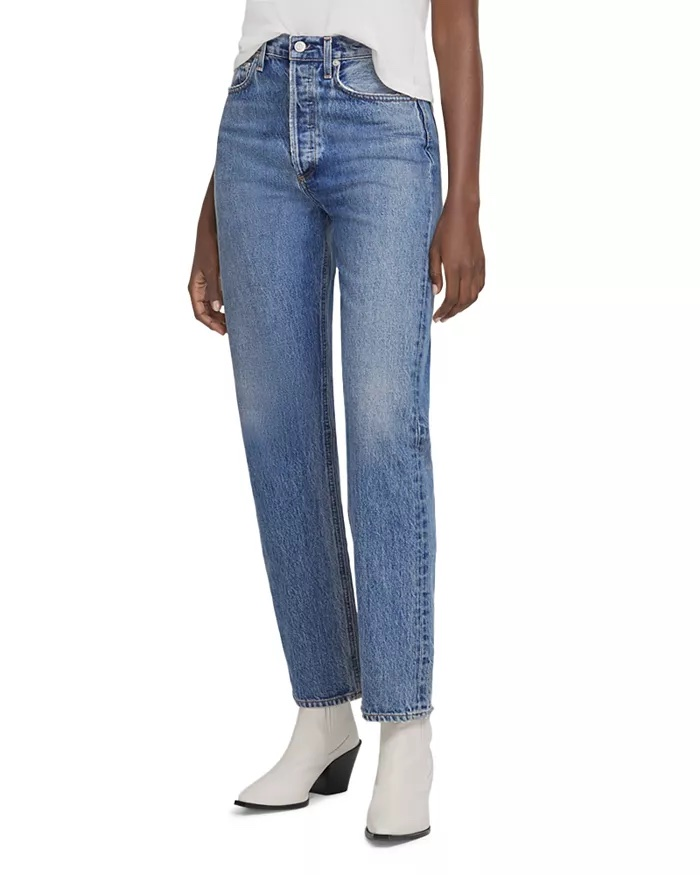 AGOLDE 90's Pinch Waist High-Rise Straight Leg Jeans_comfortable jeans for women_revelle