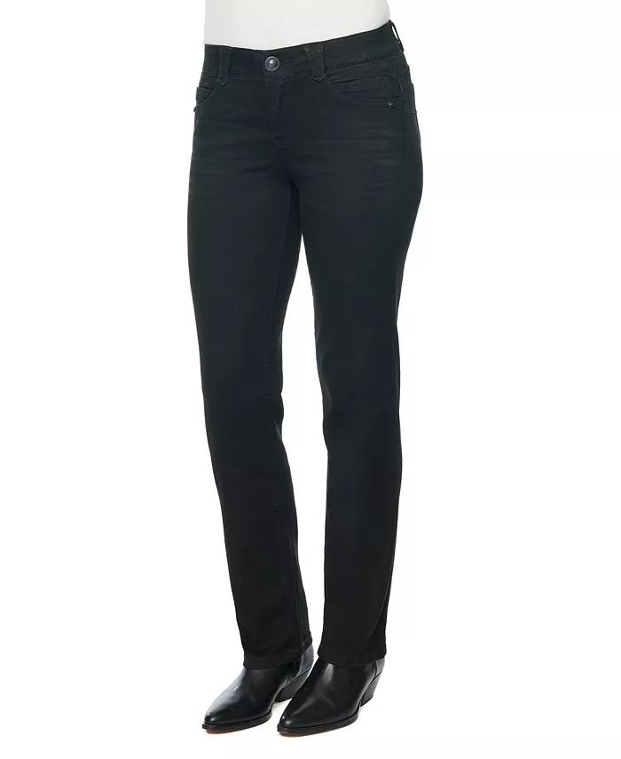 """Democracy Women's """"Ab"""" Solution Straight-Leg Jeans_black straight leg jeans_revelle"""
