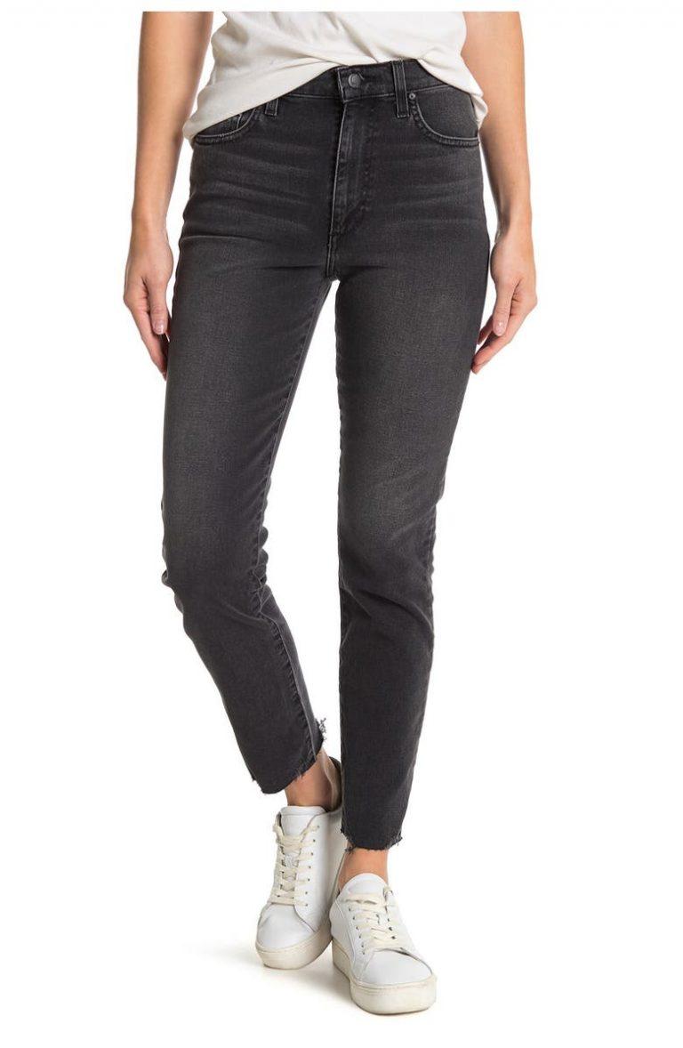 Joe's High-Rise Straight-Leg Ankle Jeans_black straight leg jeans_revelle