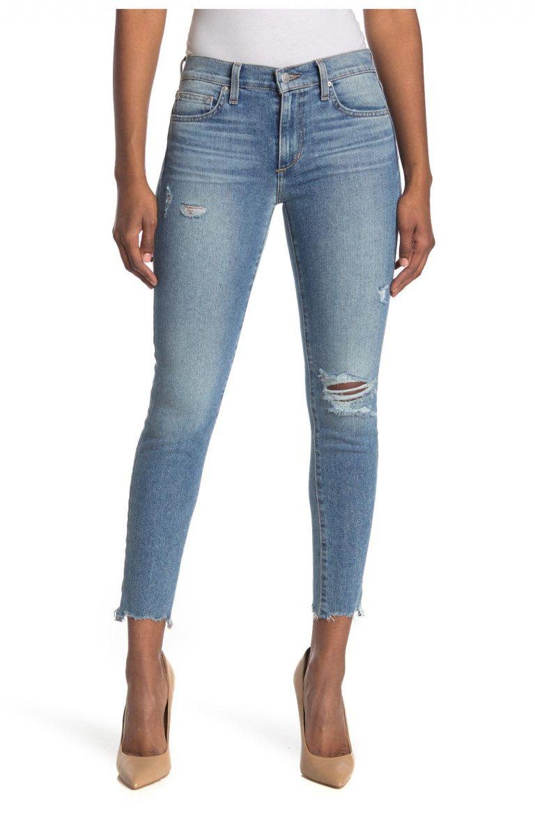 Joe's Mid-Rise Skinny Ankle Jeans With Shark Bite Hem_best jeans under 100_revelle