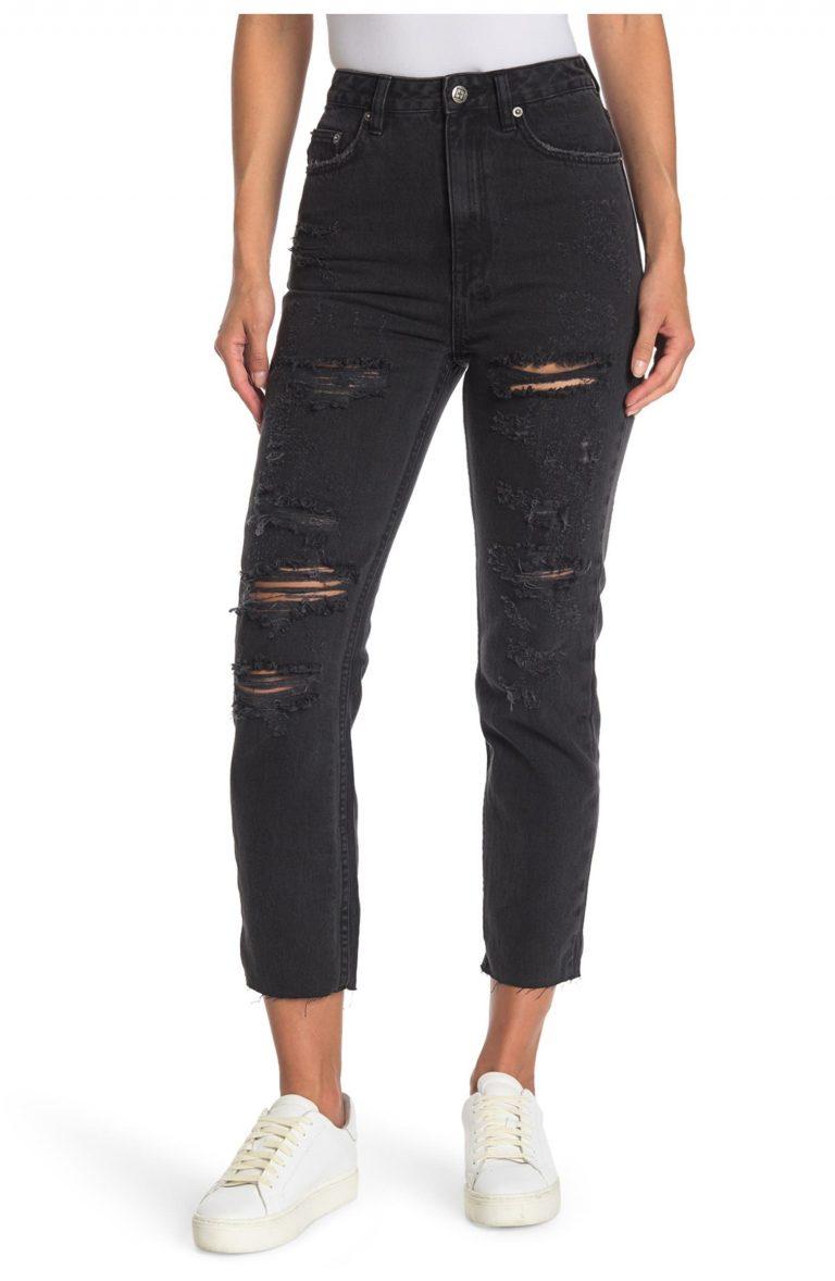 Ksubi Chlo Wasted Rat Attack Black Straight-Leg Jeans_black straight leg jeans_revelle