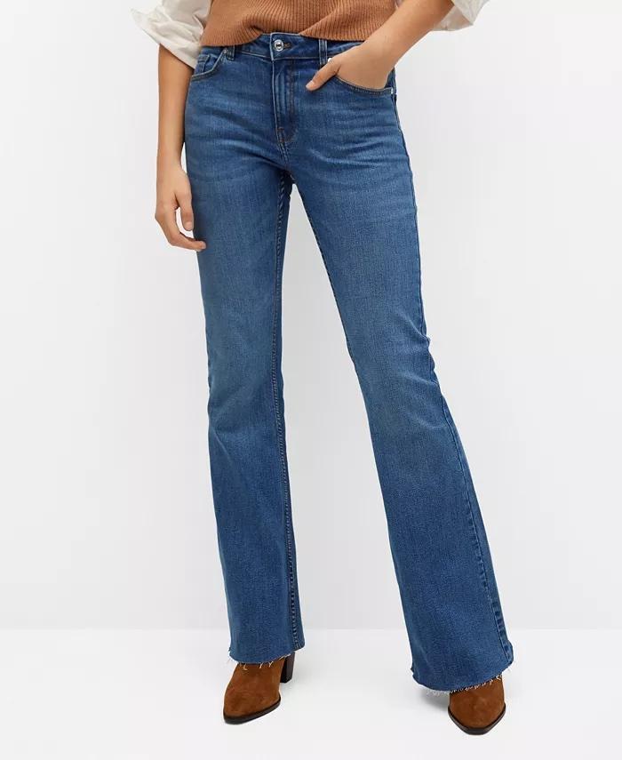 Mango Women's Flared Jeans_comfortable jeans for women_revelle