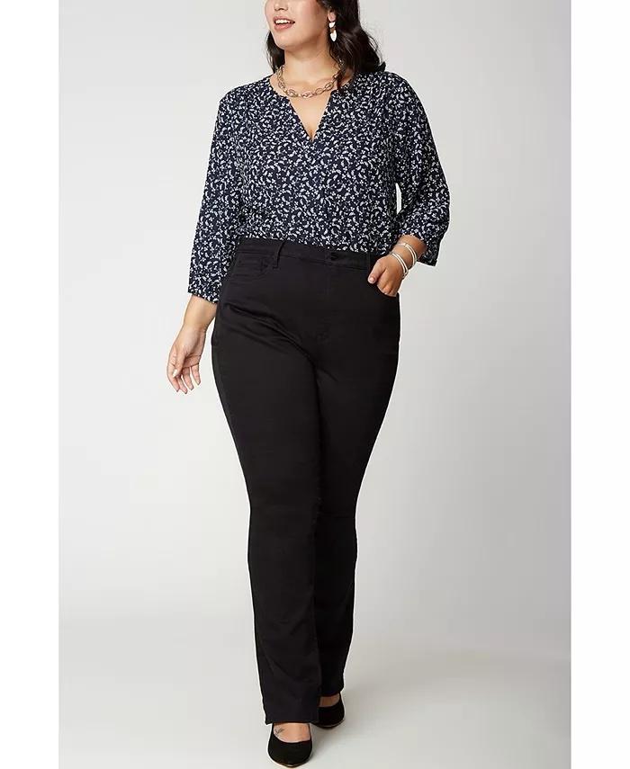 NYDJ Plus Size Slim Bootcut Jeans_comfortable jeans for women_revelle