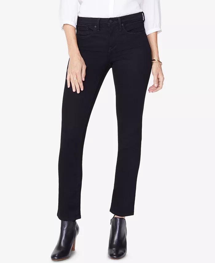 NYDJ Sheri Tummy-Control Slim Straight-Leg Jeans_black straight leg jeans_revelle