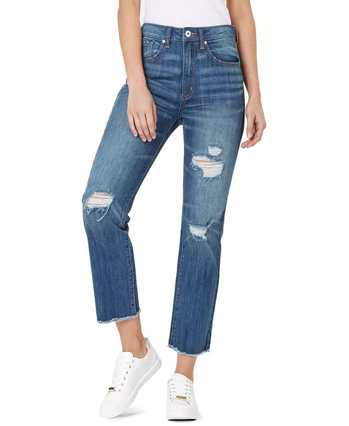 Numero Ripped High-Rise Frayed-Hem Denim Jeans_comfortable jeans for women_revelle