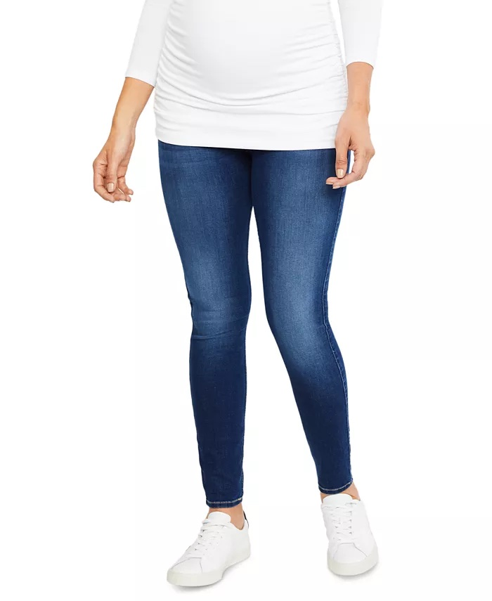 7 For All Mankind Secret Fit Belly B(Air) Skinny Maternity Jeans_best maternity jeans_revelle