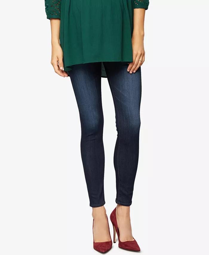 AG Jeans Coal Dark Wash Maternity Skinny Jeans_best maternity jeans_revelle