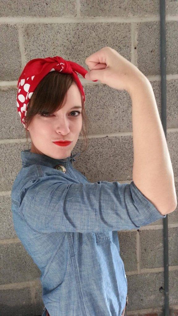 woman in rosie the riveter costume_brianne wilson_revelle