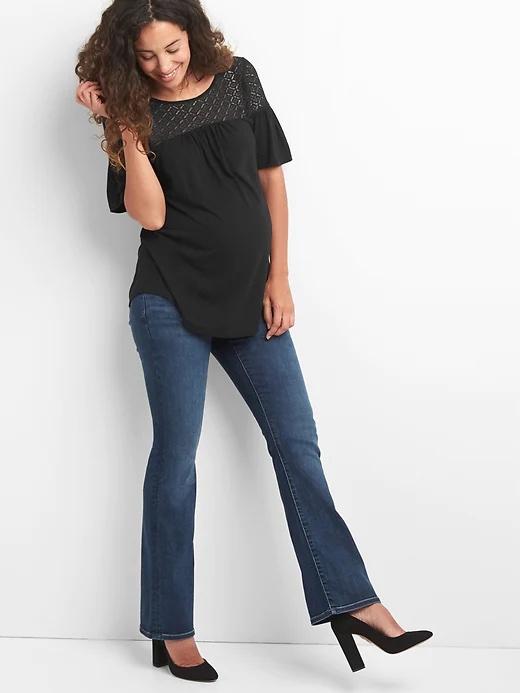 Gap Maternity Demi-Panel Perfect Bootcut Jeans_best maternity jeans_revelle