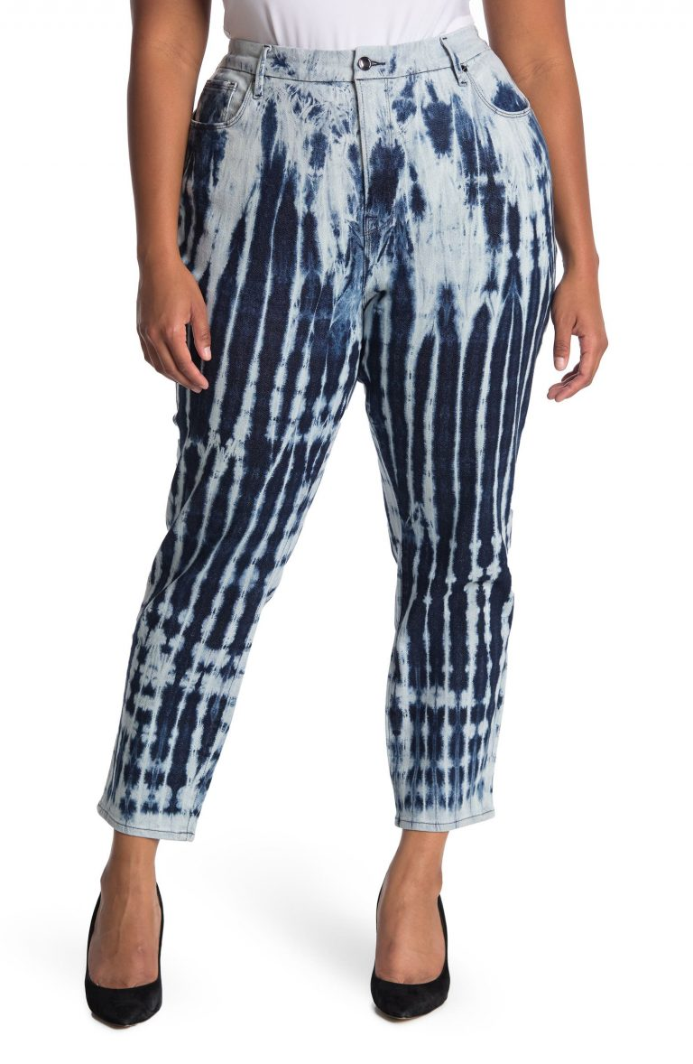 Good Vintage Tie Dye Shibori Jeans_best jeans for plus size women_revelle