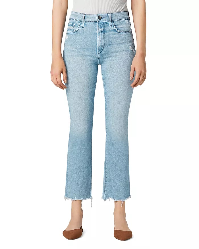 Joe's Jeans Callie Cropped Bootcut Jeans In Sunny_best blue jeans for women_revelle