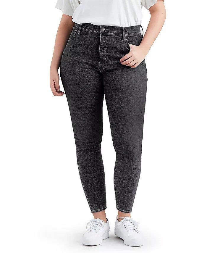 Levi's Trendy Plus-Size 720 High-Rise Super Skinny Jeans_best black jeans for women_revelle