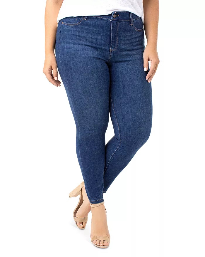 Liverpool Los Angeles Plus Ankle Skinny Jeans in Elysian Dark_best jeans for plus size women_revelle