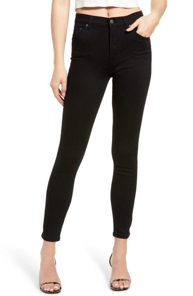 Reformation Harper High & Skinny Jeans_best black jeans for women_revelle