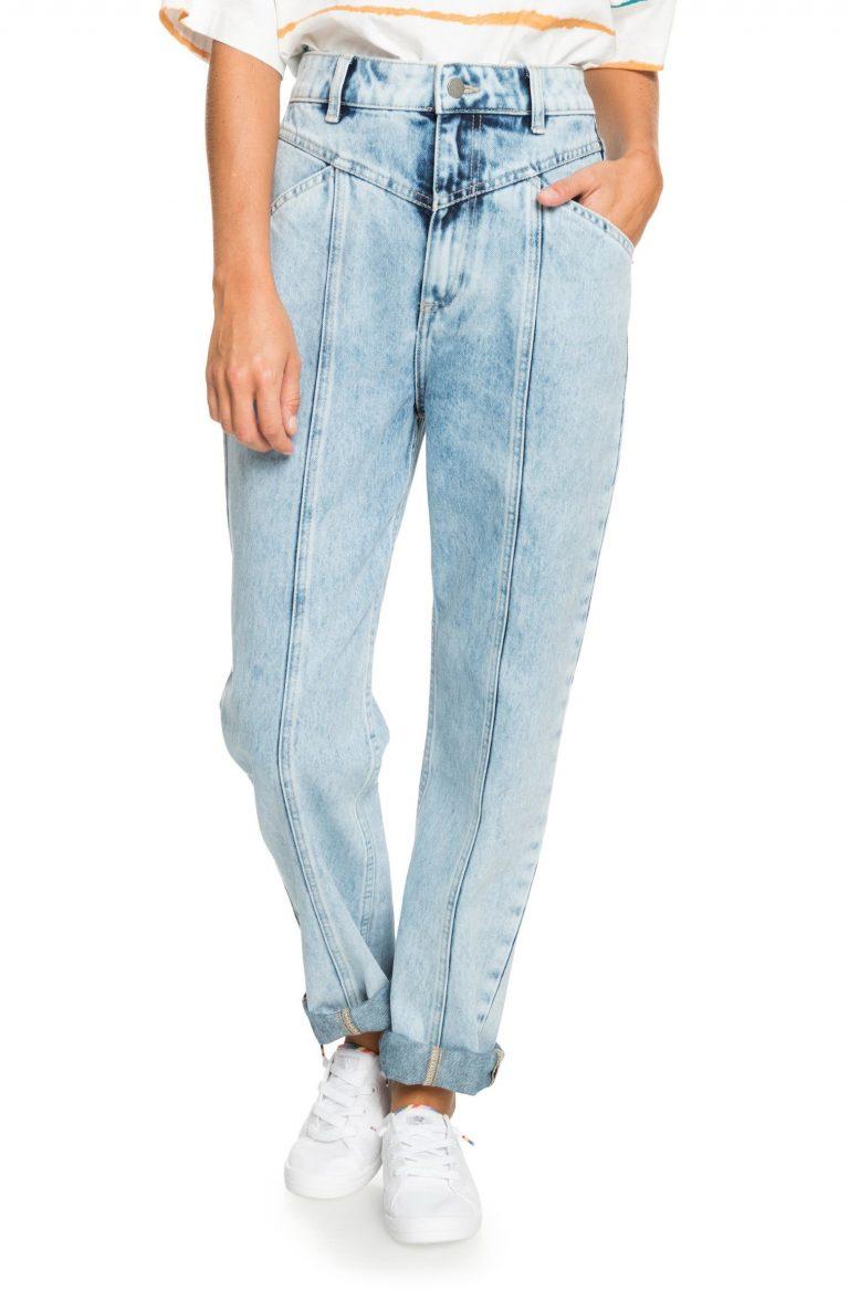Roxy World Wide Woman Seamed Ultra High Waist Mom Jeans_best blue jeans for women_revelle